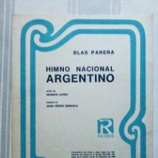 Partituras musicales: LOTE 2 PARTITURAS HIMNO NACIONAL ARGENTINO RICORDI KORN. Lote 173674118
