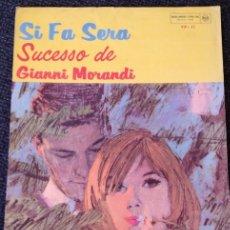 Partituras musicales: SI FA SERA. - MORANDI, GIANNI.. Lote 194651636