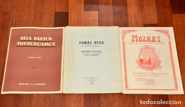 Partituras musicales: 3 LIBROS DE PIANO - BELA BARTOK - TOMAS BUXO - MOZART - Foto 2 - 173942289
