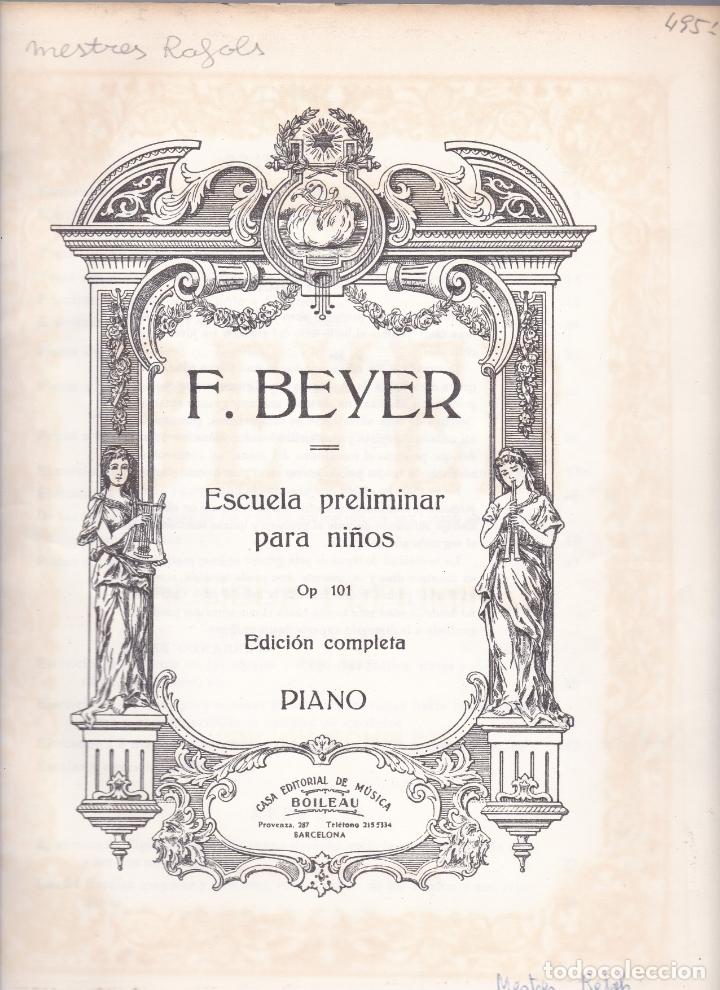 Partituras musicales: EDICION IBERICA Nº 49 - BEYER ESCUELA PRELIMINAR - OP 101 - EDITORIAL BOILEAU - Foto 3 - 174139640