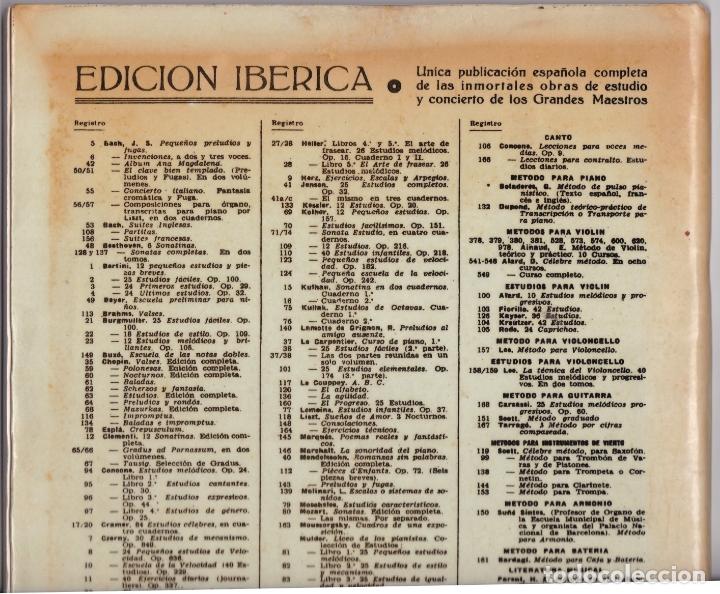 Partituras musicales: EDICION IBERICA Nº 49 - BEYER ESCUELA PRELIMINAR - OP 101 - EDITORIAL BOILEAU - Foto 4 - 174139640