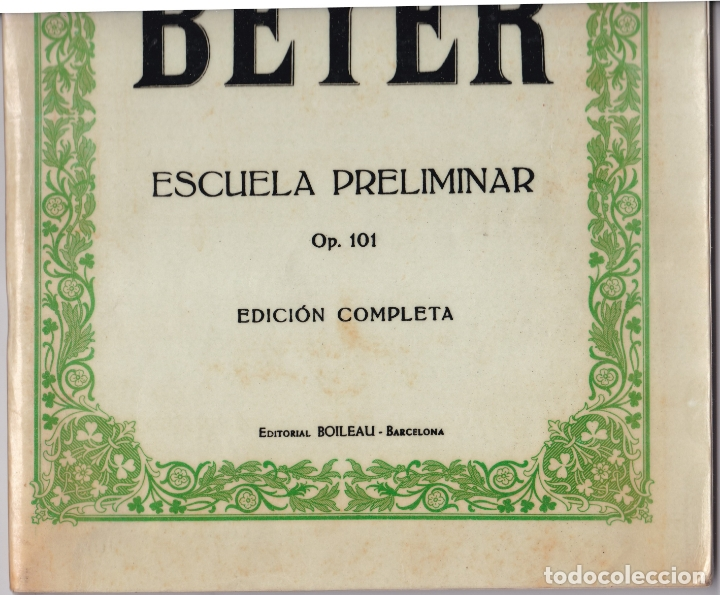 Partituras musicales: EDICION IBERICA Nº 49 - BEYER ESCUELA PRELIMINAR - OP 101 - EDITORIAL BOILEAU - Foto 5 - 174139640