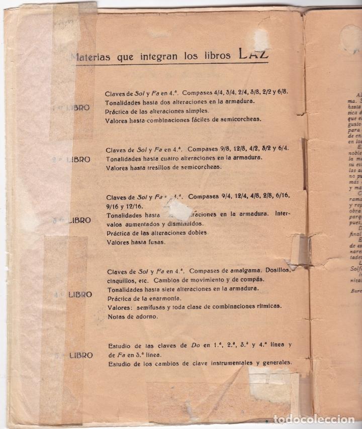 Partituras musicales: LAZ - METODO GRADUADO DE SOLFEO - LIBRO I - EDITORIAL BOILEAU - Foto 2 - 174140169