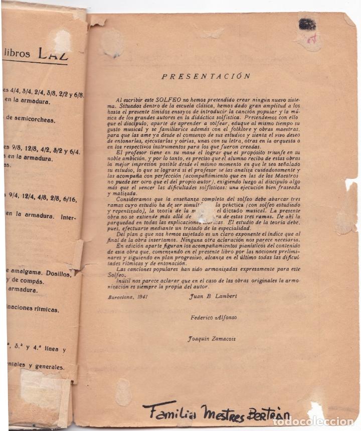 Partituras musicales: LAZ - METODO GRADUADO DE SOLFEO - LIBRO I - EDITORIAL BOILEAU - Foto 3 - 174140169