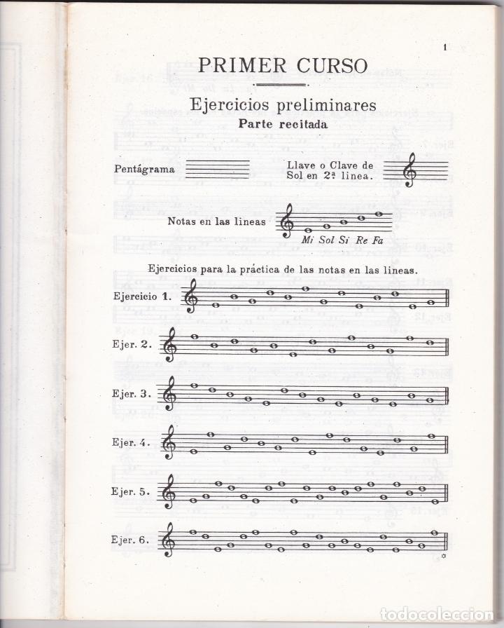 Partituras musicales: SOLFEO - PRIMER CURSO - CONSERVATORIO DEL LICEO - SERRA - ZAMACOIS - ABREU - BARCELONA 1959 - Foto 2 - 174141152