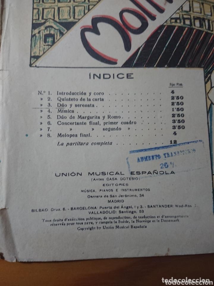 Partituras musicales: Molinos de Viento, Opereta de Pablo Luna, antigua partitura ppios de siglo - Foto 4 - 174264942