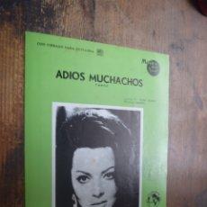 Partituras musicales: PARTITURA DE ADIOS MUCHACHOS, CON CIFRADO PARA GUITARRA, PORTADA SARA MONTIEL. Lote 174434740