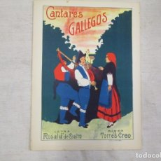 Partiture musicali: GALICIA - ANTIGUA PARTITURA - CANTARES GALLEGOS - TORRES CREO - LETRA ROSALIA DE CASTRO. 6PAG 1S. Lote 189811980
