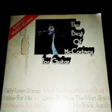Partituras musicales: THE BEATLES THE BEST OF MC CARTNEY FOR GUITAR MULL OF KINTYRE. Lote 175208125