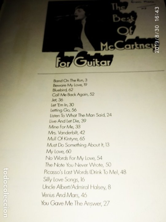 Partituras musicales: THE BEATLES THE BEST OF MC CARTNEY FOR GUITAR MULL OF KINTYRE - Foto 9 - 175208125