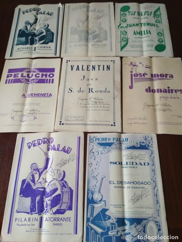 LOTE DE PARTITURAS ANTIGUAS (Música - Partituras Musicales Antiguas)
