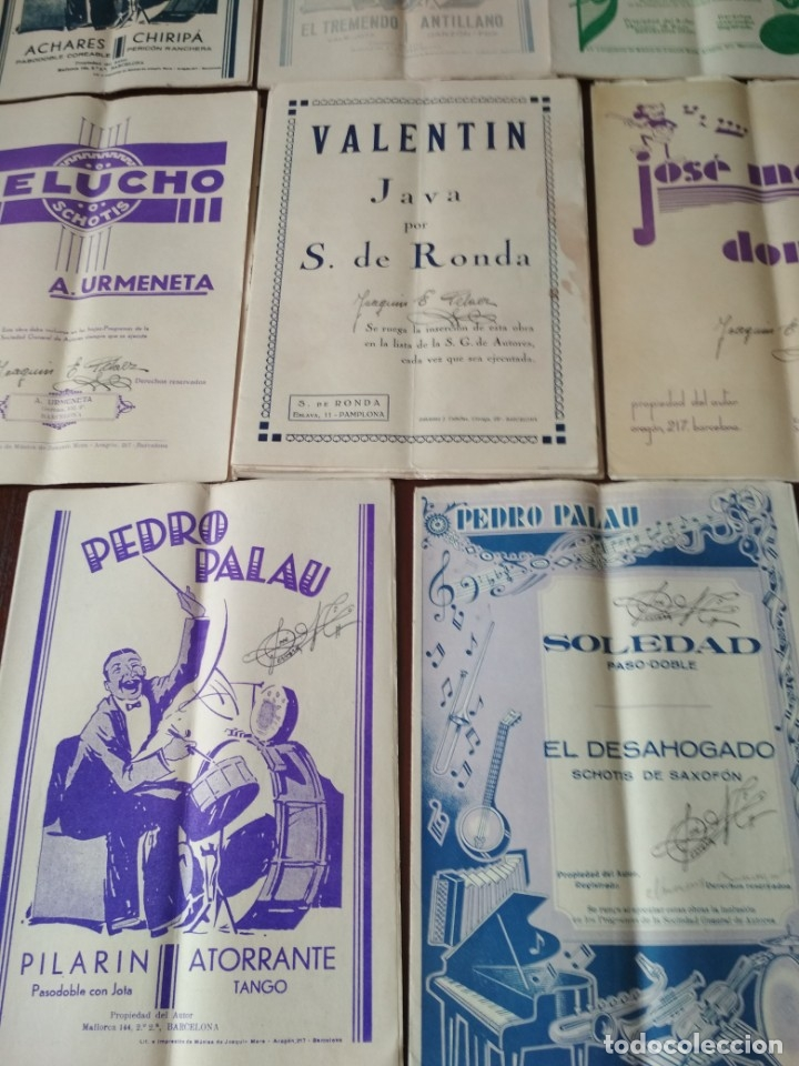 Partituras musicales: LOTE DE PARTITURAS ANTIGUAS - Foto 3 - 175303547