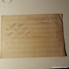 Partitions Musicales: LA MARIPOSA, MAZURCA PARA PIANO POR FEDERICO MONTERO Y SANTOS. ARECIBO, PUERTO RICO 1884.. Lote 175752345