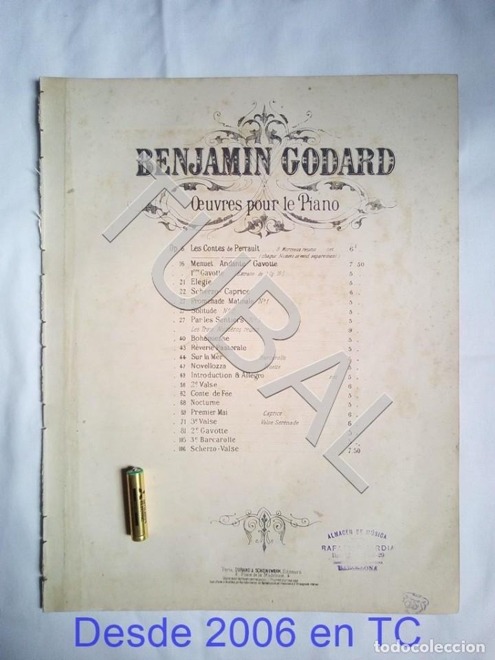 TUBAL BENJAMIN GODARD 2 PARTITURAS PARA PIANO MUSICAL ANTIGUA ENVIO 2,35 € ORDINARIO PARA 2019 G5 (Música - Partituras Musicales Antiguas)