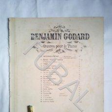 Partituras musicales: TUBAL BENJAMIN GODARD 2 PARTITURAS PARA PIANO MUSICAL ANTIGUA ENVIO 2,35 € ORDINARIO PARA 2019 G5. Lote 175764612