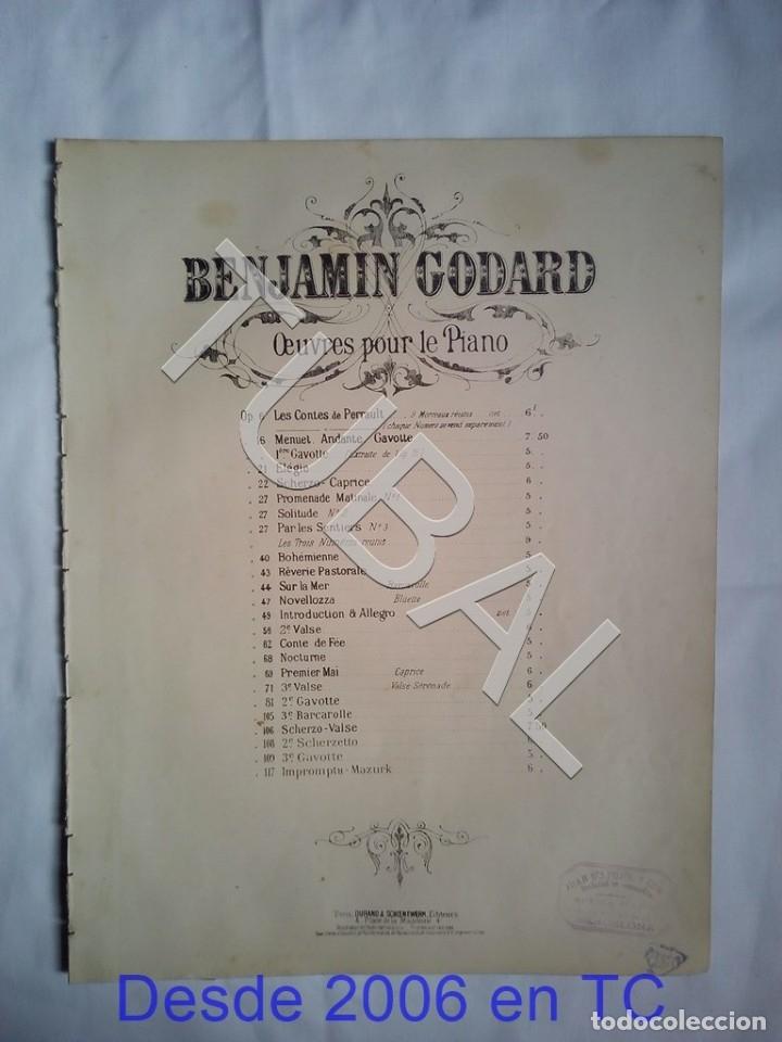 Partituras musicales: TUBAL BENJAMIN GODARD 2 PARTITURAS PARA PIANO MUSICAL ANTIGUA ENVIO 2,35 € ORDINARIO PARA 2019 G5 - Foto 5 - 175764612