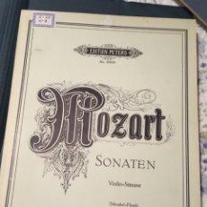 Partituras musicales: MOZART SONATEN VIOLIN-STIMME. Lote 175908659