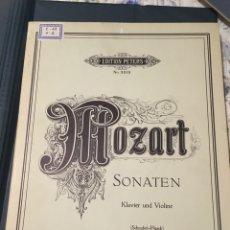 Partituras musicales: MOZART SONATEN KLAVIER UND VIOLINE. Lote 175909082