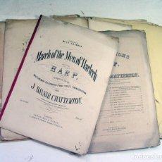 Partituras musicales: 11 PARTITURAS PARA ARPA. HARP. SIGLO XIX. Lote 175958097