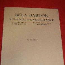 Partituras musicales: BELA BARTOK - RUMÄNISCHE VOLKSTÄNZE - PIANO SOLO - UNIVERSAL EDITION UE 5802. Lote 175981448