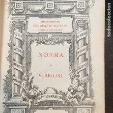 Partituras musicales: PARTITURAS DE BELLINI. OPERAS NORMA Y LES PURITAINS. ANTIGUO LIBRO DE PARTITURAS PARA PIANO. Lote 175982025