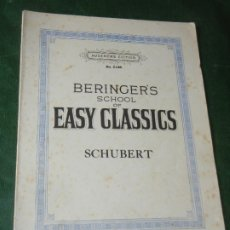 Partituras musicales: SCHUBERT. BERINGER'S SCHOOL OF EARLY CLASSICS - AUGENER'S ED. 5138 - 14762 - 1937. Lote 176510779