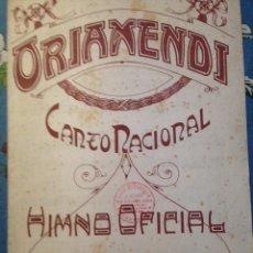 Partituras musicales: PARTITURA:ORIAMENDI, CANTO NACIONAL HIMNO OFICIAL TRADICIONALISTA- CARLISMO, CARLISTAS REQUETES. Lote 176845864