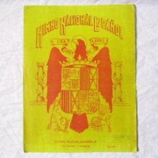 Partituras musicales: HIMNO NACIONAL ESPAÑOL UNIÓN MUSICAL ESPAÑOLA, J.M. PEMÁN. Lote 176942174