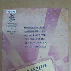 Partituras musicales: 25344 - PARTITURAS - 2 CANCIONES - ESTO ES VIVIR Y MORENITA CHA CHA CHA - EDICIONES RITMOS NUEVOS. Lote 177121982