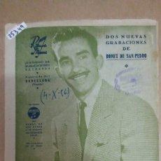 Partituras musicales: 25349 - PARTITURAS - 2 CANCIONES - JOSE SINVERGONZON Y CHA CHA CHA INTERNACIONAL - ED RITMOS NUEVOS. Lote 177122740