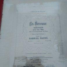 Partituras musicales: LES BERCEAUX - MELODIE - A MADEMOISELLE ALICE BOISSONNET. Lote 177304140