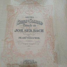 Partituras musicales: SECHS SUITEN (SONATEN) FÜR VIOLONCELLO SOLO VON JOH. SEB. BACH; HRSG. VON FR. GRÜTZMACHER 1867. Lote 177306418