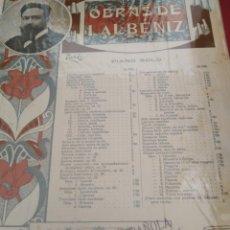 Partituras musicales: OBRAS DE ISAAC ALBENIZ (PIANO SOLO) UNION MUSICAL ESPAÑOLA 1918. Lote 177308427