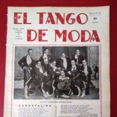 Partituras musicales: EL TANGO DE MODA ORQUESTA CASTILLO EN PORTADA. AÑO 1929.N 18. Lote 177397085