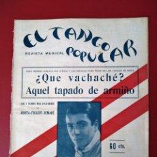 Partituras musicales: EL TANGO POPULAR LUCIO DEMARE . Lote 177397314