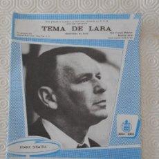 Partituras musicales: TEMA DE LARA. (SOMEWHERE, MY LOVE). PAUL FRANCIS WEBSTER. MAURICE JARRE / EL AMOR ES ALGO MARAVILLOS. Lote 178184707