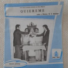 Partituras musicales: QUIEREME. LETRA Y MUSICA: M.S. MELCHOR. / HOJAS DE INVIERNO. LTERA Y MUSICA DE M. S. MELCHOR. SALSA . Lote 178185340