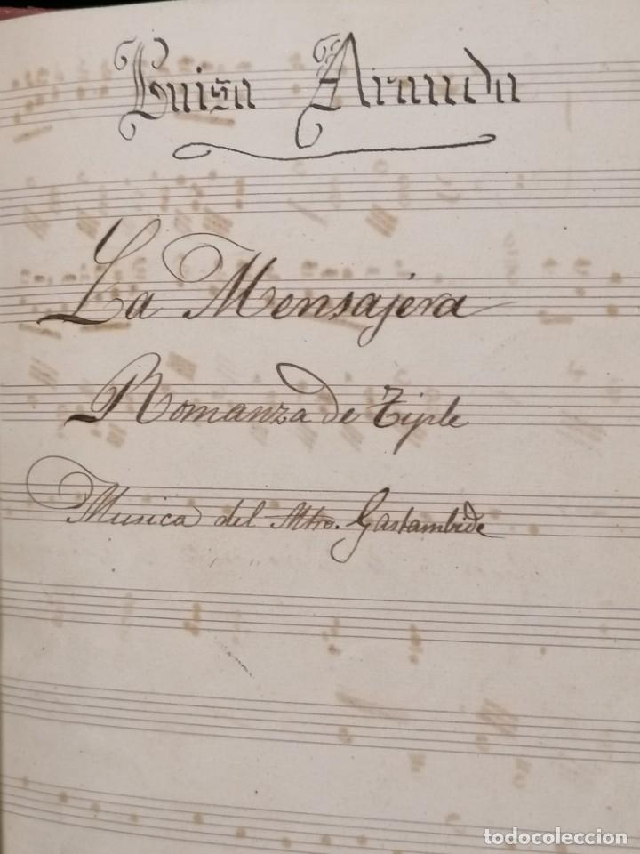 Partituras musicales: Antiguo libro de partituras escrito a mano - Foto 2 - 178239240