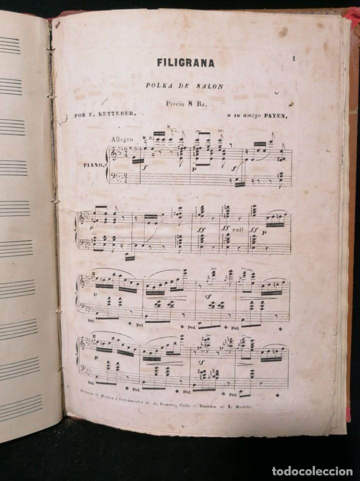 Partituras musicales: Antiguo libro de partituras escrito a mano - Foto 4 - 178239240