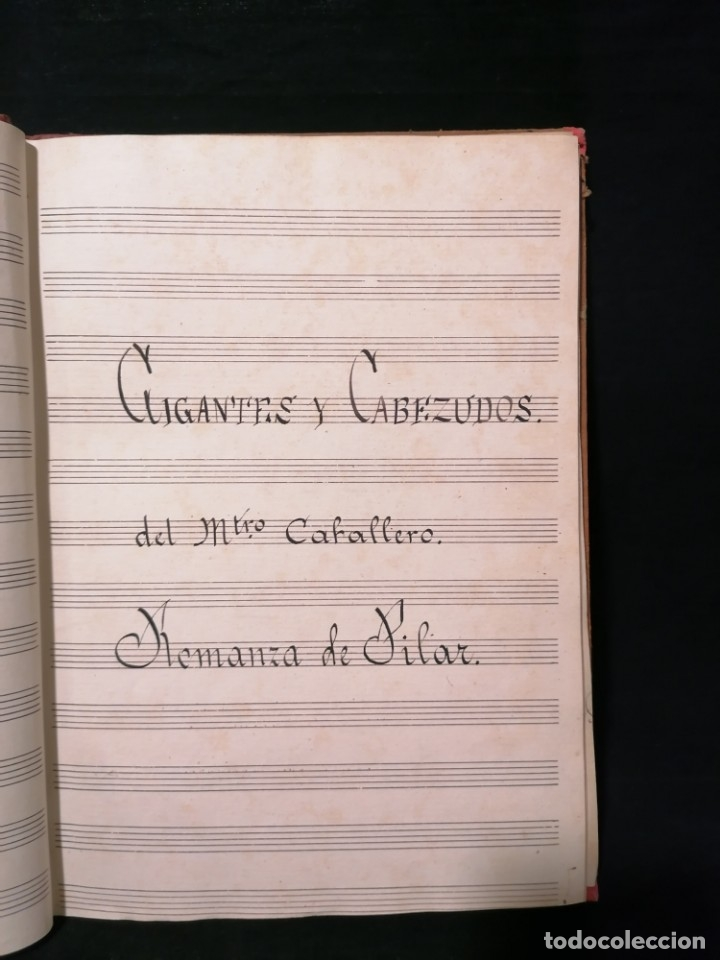 Partituras musicales: Antiguo libro de partituras escrito a mano - Foto 6 - 178239240