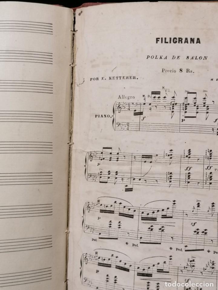 Partituras musicales: Antiguo libro de partituras escrito a mano - Foto 7 - 178239240