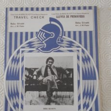 Partituras musicales: TRAVEL CHECK. / LLUVIA DE PRIMAVERA. BEBU SILVETTI. PARTITURA. EDICIONES MUSICALES HISPAVOX.. Lote 178258606