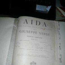 Partituras musicales: AIDA GIUSEPPE VERDI. Lote 178357555