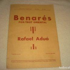 Partituras musicales: BERNARES, FOX TROT ORIENTAL. RAFAEL ADUA . PARTITURA.. Lote 178378511