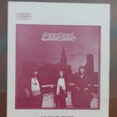 Partiture musicali: PARTITURA LIVING EYES. GRUPO THE BEE GEES. EDICIONES MUSICALES FONTANA.. Lote 178383508
