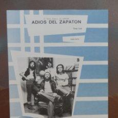 Partituras musicales: PARTITURA ADIÓS DEL ZAPATON ÉXITO DEL ZAPATON. EDICIONES MUSICALES HISPAVOX.. Lote 178383956