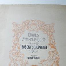 Partituras musicales: PARTITURA ETUDES SYMPHONIQUES ROBERT SCHUMANN PIANO SOLO 47 PAGINAS. 14X32 CM. Lote 178579760