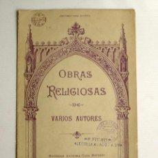 Partituras musicales: OBRAS RELIGIOSAS DE VARIOS AUTORES CASA DOTESIO. Lote 178636890