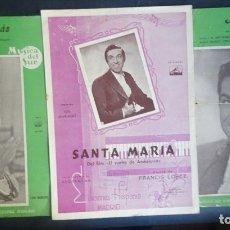 Partituras musicales: LOTE DE 3 PARTITURAS J.M. AROZAMENA/ FRANCIS LOPEZ, VER FOTOS. Lote 178678746