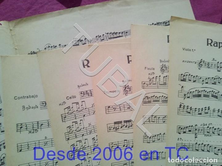 Partituras musicales: TUBAL RAPSODIA VALENCIANA ENRIQUE NAVARRO TADEO NATI LA BILBAINITA PARTITURA ANTIGUA P1 - Foto 3 - 178696746